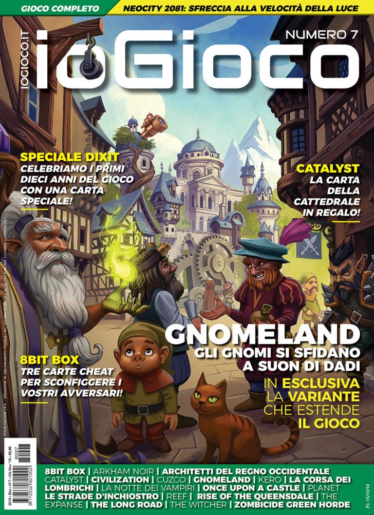 ioGioco 7 – Gnomeland, Neocity2081 e carte promo 8bit bot, Dixit e Catalyst