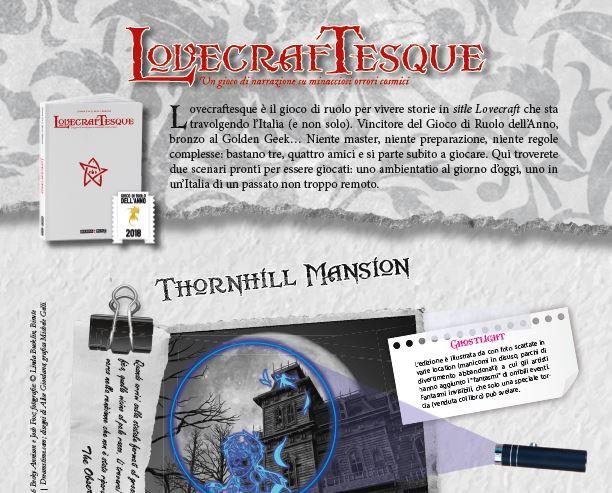 Lovecraftesque: due avventure e una carta esclusiva in omaggio